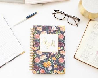 Be Still Journal- Navy Floral