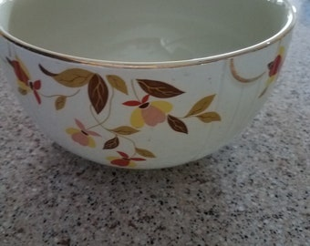 Superior Hall Quality Autumn Leaf Mixing/Serving Bowl - Dinnerware - 1930's - Vintage Kitchen