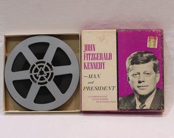 Vintage 8mm Film John Fitzgerald Kennedy - Man and President by Castle Films #196