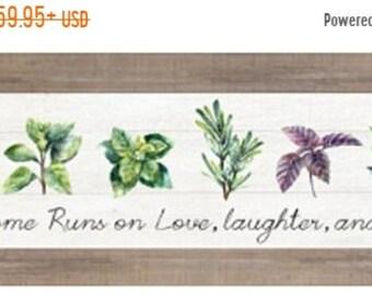 Sale Herbs Basil Oregano Mint Rosemary Thyme Herb Kitchen Decor Art Sign Framed Art