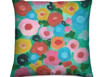 """Floral Throw Cushions """"Barbados Blooms"""" Limited Edition Print - 40 cm"""