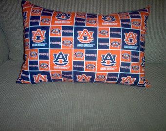 Handmade Pillow Made Using Auburn Fabric