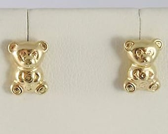 """Teddy Bear"" earrings in 18kt gold full"