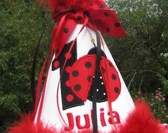 first birthday hat, 2nd birthday hat,  ladybug birthday hat,  smash cake hat,  red ladybug  free personalization, ladybug birthday