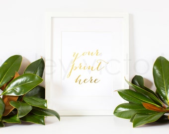 SET of 2 // Styled White Frame Photos // Digital Download