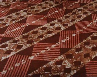 Coupon 60x50cm - Brown, salmon - patterns edu - PBKBZ49 ona patchwork fabric