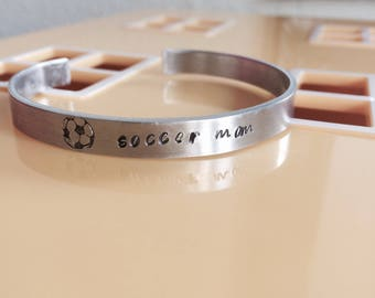 SALE! Soccer Mom Bracelet -Gifts - Sports - Family - Soccer Jewelry - Holiday Gift