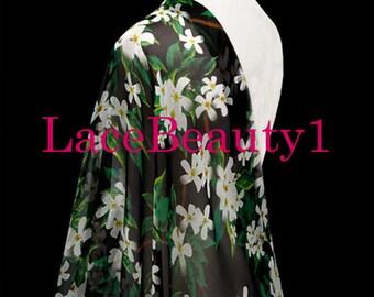 Silk chiffon with printing flowers soft chiffon venice chiffon floral chiffon fabric apparel chiffon dress chiffon vintage chiffon