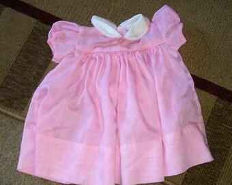 Sale-Vintage Jane Copeland Pink Baby Dress 3 Month