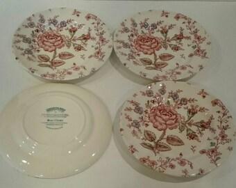 Vintage Chintz plates, set of four