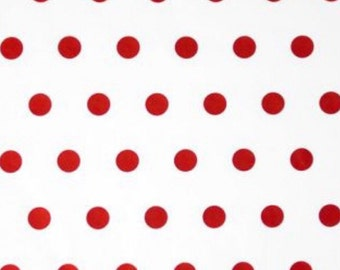 """Red White Polka Dots Printed Tissue Paper Gift Wrap Wrapping (Pack of 5) 30x20"""" - 750x500mm"""
