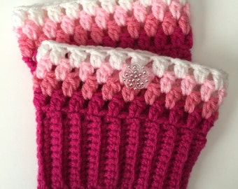 Handmade Adorable Crocheted Boots Cuffs - Any Size - Any Color