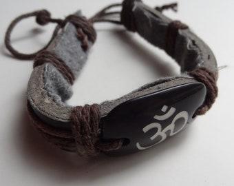 OM bracelet - organic and tribal