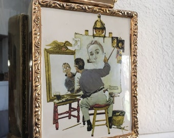 Norman Rockwell Limited Edition Ceramic Bourbon Whiskey Decanter Collectors
