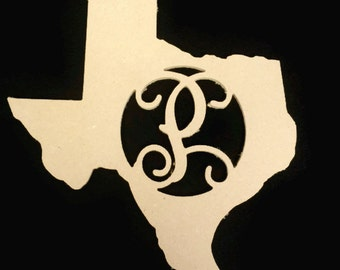 Unpainted, Monogrammed States with Your Choice of the Letter!  16''x15''x1/4''