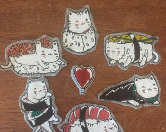 Sushi Cat Patches