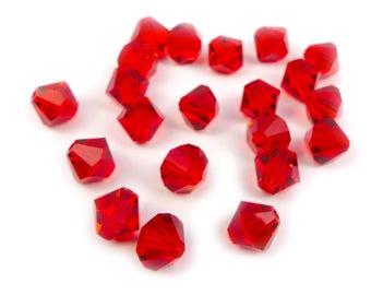 20 x 6 mm Swarovski crystal bicones LIGHT SIAM