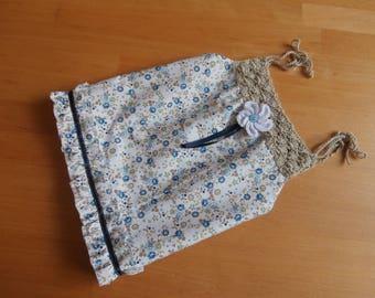 Summer dress - baby girl - flower - crocheted