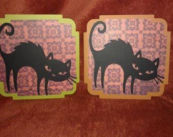 Black Cat Halloween Cards