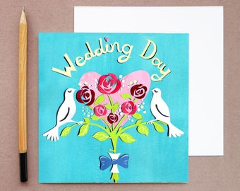 Dove Wedding Card - Dove Card - Love Birds Wedding Card - Engagement Card