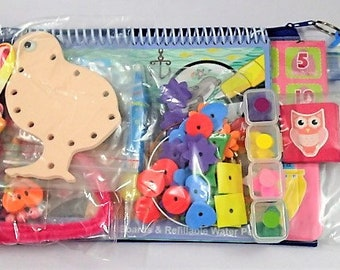 8 Activities Busy Bag For Toddler - Set G