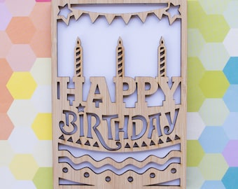 Happy Birthday Cake/Candles Birthday Card
