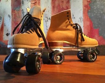 1980s Suede Roller Skates Size 11