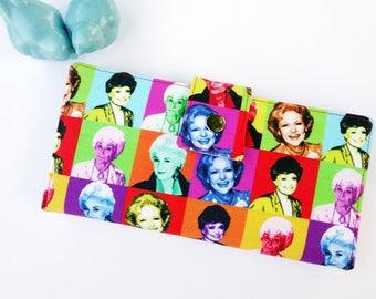 Golden Girls Women's wallet, checkbook wallet, credit card wallet, thin wallet, minimalist wallet, cute wallet