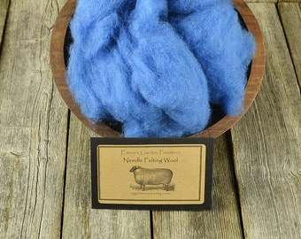 Needle Felting Wool - Delphinium - Wet Felting Wool- C1