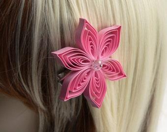 Pink Hair Clip, Pink Hair Flower, Pink Wedding Hair Accessory Sale