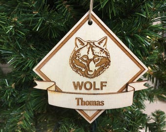 Wolf Scout® Personalized Christmas Ornament