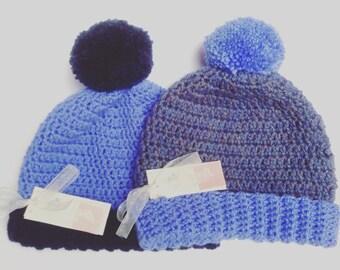 Toddler Pom Pom Hat - Baby Pom Pom Hat - Kids Pom Pom Hat - Baby Winter Hat - Kids Winter Hat - Winter Hat For Baby - Wool Hat - Woolly Hat