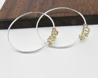 Two Tone Infinity Hoops