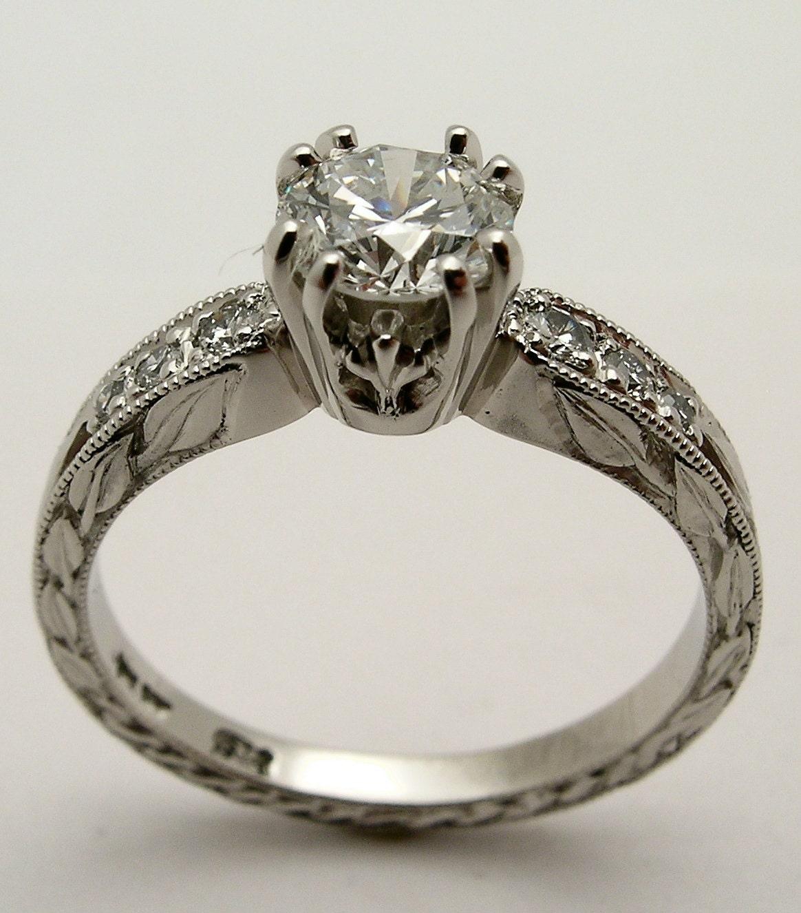 Custom Hand Carved 10 Iridium Platinum 8 claw Canadian