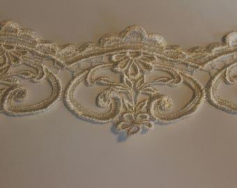 off white venise lace trim