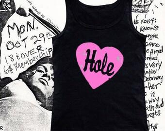 Women's - T Shirt - Tank Top - Hole - 90's - Grunge - Riot Grrrl - Band Shirt - Graphic