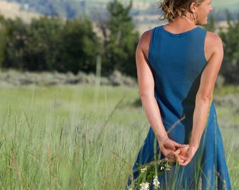 Organic Clothing - Soy Aster Tank Dress - Organic Sundress