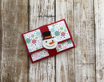 Snowman Gift Card Holder, Christmas Gift Card Holder, Gift Card Holder, Snowman, Christmas, Snowman Christmas Card, Wooden Snowman, Card