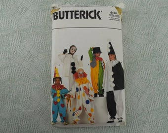 Butterick Sewing Pattern 4154 children boys girls costume from 1986