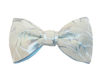 Versailles Bowtie - J&T Bowties, men accessories for wedding, ceremony, groomsmen. Blue brocart, blue cotton lining, pre-tied, ajustable