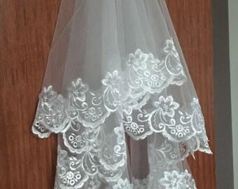 Bridal Veil, Wedding Veil, Lace Wedding Veil