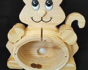 Cat Bank nothing but wood. See the wood all natural, no paint just beautiful wood