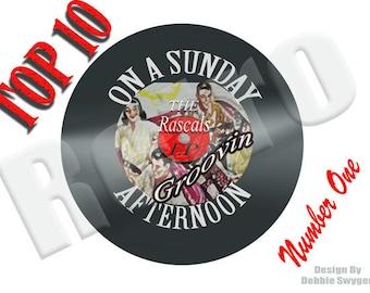 Customized Top 10 Retro record LP Tee Shirts