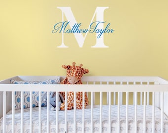 Wall Decal Name Monogram Vinyl Decal Lettering Personalized For Your Child Wall Words
