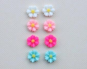 Spring Daisy Earrings / Hypoallergenic clip ons / Non-pierced ears / Pierced ears / Metal free jewelry / Sensitive Ears / Floral / Flowers