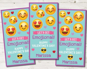 Tween Valentines Cards, School Valentine Cards kids, Emoji Valentine Cards kids, Children Emoji Valentine Cards, Printable Valentine