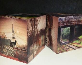 Walking Dead Inspired 2 inch wooden printed blocks