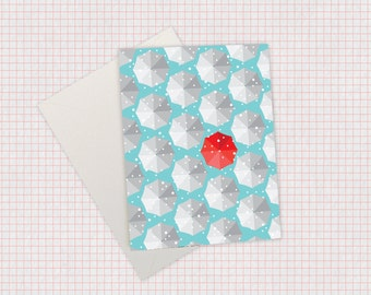 Snowy Umbrella Card – Holiday/Christmas