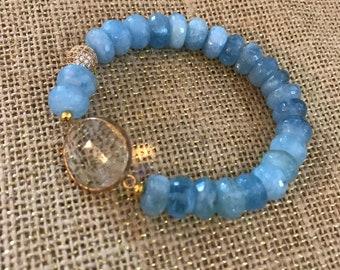 Stunning aquamarine bracelet