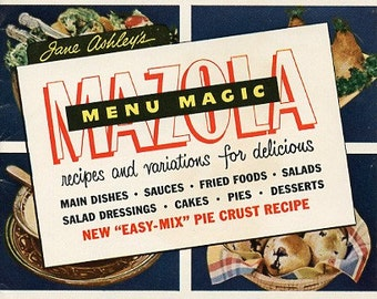 Mazola Menu Magic - Vintage 1951 Cookbook